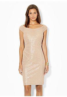 1b3d1f95b602 Lauren Ralph Lauren Sequined Mesh Dress