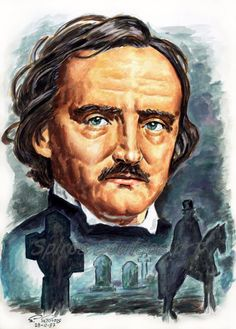 Edgar Allan Poe painting portrait