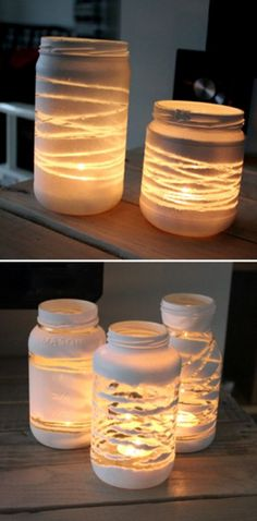 She Wrapped Her Empty Jars With YARN And Then Put THIS Inside! The Result? Jaw-Dropping!