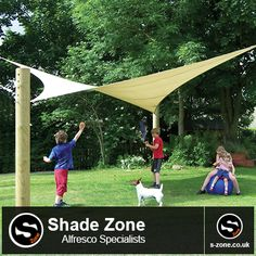 Pow Wow  An affordable semi-permanent sun shade designed for green spaces such as parks, gardens and school playing fields. The Pow Wow consists of a mesh shade cloth fitted under tension to timber support posts, It is de-mountable for winter months (October – April).  To view more information on pow wow:  http://www.s-zone.co.uk/pdf/Pow%20Wow%20PDF.pdf  The S-Zone Group in East Yorkshire, Hull Contact our Sales team on: 01482 481050 Or visit our website on www.s-zone.co.uk
