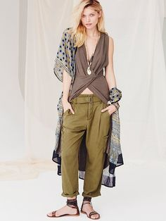 I LOVE these pants! Free People Summers Over Cargo Pants, $128.00