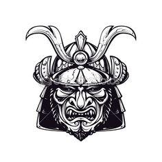 Маска самурая клип арт — стоковая иллюстрация #36956715