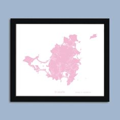 Saint Martin map, Sint Maarten city map art, Saint Martin wall art poster, Saint Martin decorative map. Saint Martin Sint Maarten City Street Map - Choose from 20 colors to match any decor. Carefully printed using the highest quality UltraChrome archival inks on premium archival paper. All images are printed with the white border as shown, which makes framing a snap. Frames shown are not included.Your custom handmade print will be carefully packaged and shipped in a sturdy mailer within…