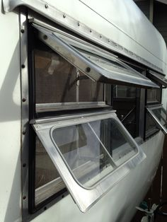Aljoa windows on 1954 Sportsman trailer
