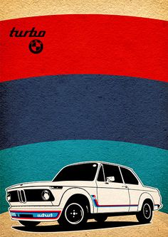 BMW 2002 Turbo Poster by David Siml, via Behance Bmw 2002, Car Illustration, Illustrations, F1 Posters, Lamborghini, Ferrari, Type E, Bmw Classic Cars, Automotive Art