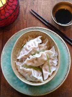 Pork dumplings, delicately flavored with chives, scallions and cabbage, are a delicious way to celebrate the Year of the Rabbit and its prom...