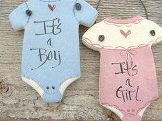Baby Onesie Salt Dough Ornament / Baby by cookiedoughcreations