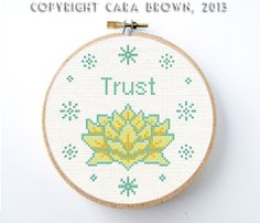 Lotus Flower Cross Stitch Pattern PDF Digital by TheElfinForest, $5.00