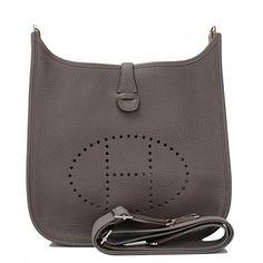 f0f1e4918db0 Hermes Evelyne III PM Clemence Bag in Etain with Palladium Hardware  hermes   Hermeshandbags Hermes