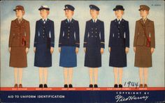 Women's WWII Era Military Uniforms, copyright Fred Harvey, 1944.