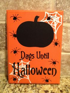Halloween Chalkboard Countdown Spider Web READY TO SHIP. $16.00, via Etsy.