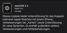 Apple Watch watchOS 2.2 Update benötigt iOS 9.3 - https://apfeleimer.de/2016/03/apple-watch-watchos-2-2-update-benoetigt-ios-9-3?utm_source=PN&utm_medium=PINIT&utm_campaign=Apple+Watch+watchOS+2.2+Update+ben%C3%B6tigt+iOS+9.3 - Neben dem iOS 9.3 Download hat Apple auch ein Update für die Apple Watch veröffentlicht. Allerdings benötigt das Apple Watch Update auf watchOS 2.2 zwangsläufig auch das vorherige Update auf iOS 9.3, das neben zahlreicher Fehlerbehebungen und Bugf