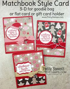 Matchbook Style card or Goodie Bag Treat - Video Tutorial   Patty's Stamping Spot   Bloglovin'