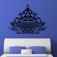 Nice Car Front Flames Tribal Wall Sticker