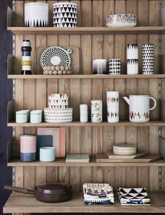 Danish design brand Ferm Living just released their A/W catalogue. Love the styling and products :) Nice kitchen display!