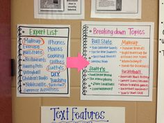 Created an 'Expert List' for our nonfiction feature articles in 4th grade writing!