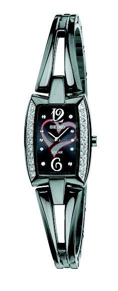 Seiko Tressia, Solar Watch, American Heart Association, with black ion finish, SUP089  www.SeikoUsa.com