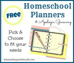 Free Homeschool Planners and Apologia Giveaway!