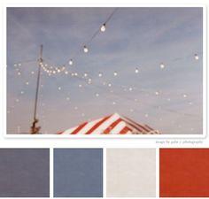 2018 blue grey red white colour palette