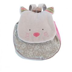 Sac à dos du thème Les Pachats. Beau chat gris pour transporter les jouets, le goûter… Mesure 23 x 10 x 29 cm. Convient dés 18 mois.