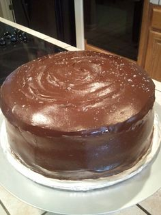 Chocolate fudge cake with salted carmel buttercream frosting and chocolate ganache.