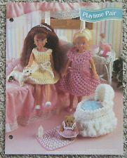 "Playtime Pair 7 1/2"" Fashion Doll Crochet Pattern Annie's Club Leaflet"