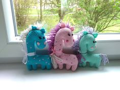Cartoon crochet horses  crochet horse  amigurumi horse