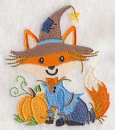 """Fox ScarecrowProduct ID:L6181 Size:3.22""""(w) x 3.85""""(h) (81.8 x 97.8 mm)Color Changes:12 Stitches:15648Colors Used:11    2 SIZES"""
