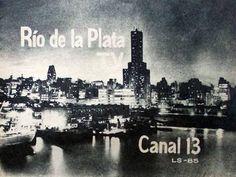 Placa de identificación de CANAL 13, Buenos Aires, 1960.