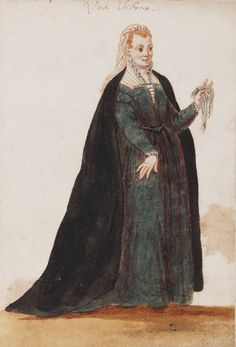From 'Mores Italiae,' 1575. A Widow, Venice. The more modest design, plain fabric, but good lines and still just a bit smexy.