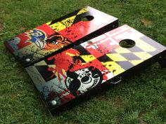 Raven's and O's Crabs and Boh's  Boards are from Shucking Cornhole. You can find them on Facebook!