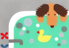 Illustration series about a little dog's life.