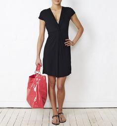 Sambag - Valerie Black Modal Twist Front Dress, $80