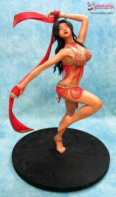 Cake Sculptures of People | Sculpture of a belly dancer made out of modelling chocolate.