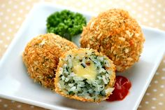Spinach Rice Croquettes
