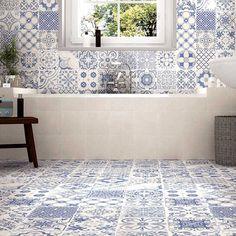 Tangier Blue | Patterned Tiles | Porcelain Superstore