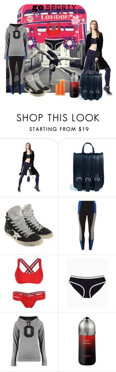 """""""go sporty....new year´s resolution"""" by snowmoon ❤ liked on Polyvore featuring Nesh, Current Mood, Golden Goose, Dorothy Perkins, Cartier and Fresh"""