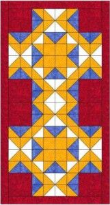 Magic carpet bed runner quilt pattern and tutorial from Ludlow Quilt and Sew