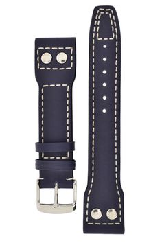 IWC Aviation Style Calf Leather Watch Strap in BLUE – WatchObsession £37.95