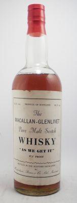 "The Macallan-Glenlivet Pure Malt Scotch Whisky "" As we get it "" Proof Scotch Whiskey, Bourbon Whiskey, Distilling Alcohol, Liquid Lunch, Drinks Cabinet, Malt Whisky, Liquid Gold, Distillery, Edinburgh"