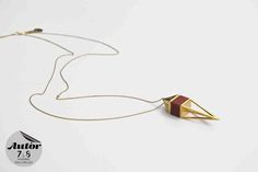 Marie Guerrier, Necklace, gold plated brass and wood, France #AutorFair…