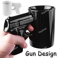 Creative Pistol Cup Ceramics Cup Mug Water Cup Coffee Cup Container with Holder Tableware Item HLI-75108