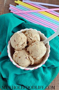This Cold Brew Coffee Ice Cream comes with health benefits. It's the perfect treat for a hot day. Vegan, gluten free and paleo approved!