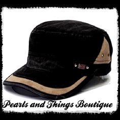Stylish Cadet Military Style Hat Very Beautiful Very Casual Black Hat Accessories Hats