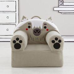 Executive Fuzzy Pet Nod Chair (Wolf) for all three boys! #NodWishlistSweeps