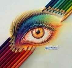 Drawings of eye green eye drawing make up drawings eye art drawings Eye Pencil Drawing, Realistic Pencil Drawings, Pencil Drawing Tutorials, Pencil Art Drawings, Art Drawings Sketches, Cool Drawings, Drawing Eyes, Colorful Drawings, Pencil Drawing Inspiration