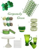 Sweet DIY Styling Tips: Green. Great for St. Patrick's day. Could do this with other colors.