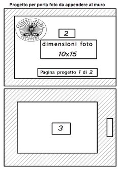 Oggetti 3D in carta foglio su foglio: Portafoto da appendere a muro,per foto di 10 x 15 ...