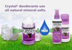 Натуральные дезодоранты Crystal  Дезодоранты Crystal на 100 % натуральны. Они не содержат: - алюминия - парабенов  Детали на сайте ;)