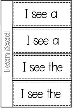 Basic Structures flippy book from I can Read Emergent Center Activities - School Themed BUNDLE Kindergarten Language Arts, Kindergarten Literacy, Teaching Reading, Guided Reading, Teaching Ideas, Kids Reading, Reading Books, Sight Word Practice, Sight Words